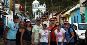 Group tour in Apeneca, El Salvador